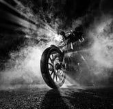 Interruptor inversor da motocicleta do poder superior na noite fotos de stock royalty free