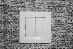Interruptor leve branco Foto de Stock