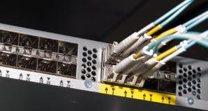 Interruptor leve da conexão de rede da nuvem Fotos de Stock Royalty Free