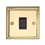 Interruptor leve elétrico do ouro fotos de stock