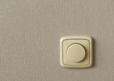 Interruptor leve em um wallp do cinza do fundo Fotos de Stock Royalty Free