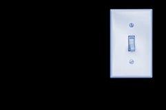 Interruptor leve na parede preta Fotografia de Stock Royalty Free