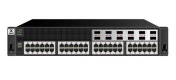 Interruptor manejado de Ethernet 2U para el montaje con un estante de 19 pulgadas con 48 12 ópticos puertos de Ethernet y libre illustration
