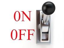 Interruptor metálico Imagen de archivo libre de regalías