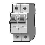 Interruptor moldado do caso Imagens de Stock Royalty Free