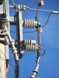 Interruptor montado poste subterráneo primario. Imagenes de archivo