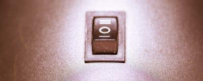 Interruptor - interruptor padrão isolado no fundo do vintage fotografia de stock