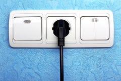 Interruptor, plugue e tomada elétricos fotografia de stock royalty free