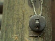 Interruptor retro el?ctrico foto de archivo libre de regalías