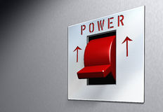 Interruptor rojo   Fotografía de archivo