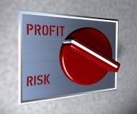 Interruptor rojo Profti contra riesgo Foto de archivo