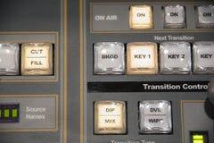 Interruptor video de la producción de la televisión de difusión fotografía de archivo libre de regalías