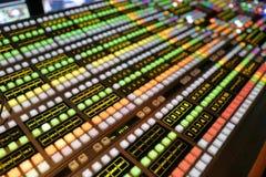Interruptor video de la producción de la difusión fotografía de archivo libre de regalías