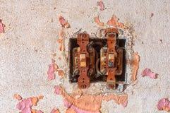 Interruptores aherrumbrados Fotos de archivo libres de regalías