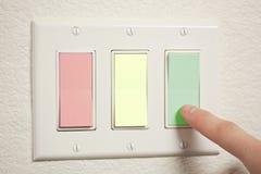 Interruptores coloreados Imágenes de archivo libres de regalías