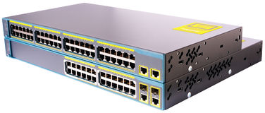 Interruptores de Ethernet de la red Foto de archivo libre de regalías