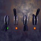 Interruptores de la rotura Imágenes de archivo libres de regalías