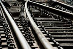 Interruptores de la vía del tren Imagen de archivo