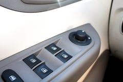 Interruptores de la ventana en el coche Imagenes de archivo