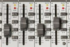 Interruptores de mezcla de la tabla Imagenes de archivo