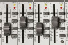 Interruptores de mistura da tabela Imagens de Stock