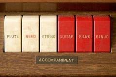 Interruptores del órgano Fotos de archivo