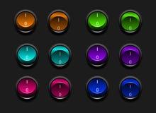 Interruptores del vector Imágenes de archivo libres de regalías