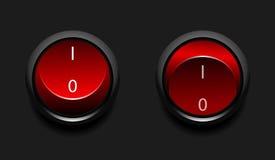 Interruptores del vector Foto de archivo