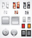 Interruptores del vector fijados Imagen de archivo libre de regalías