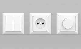 Interruptores e soquetes ilustração stock