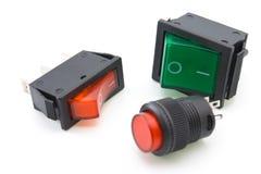 Interruptores eléctricos Fotos de archivo