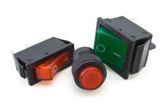 Interruptores eléctricos Imagenes de archivo