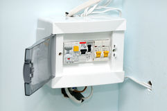 Interruptores eléctricos Fotografía de archivo libre de regalías