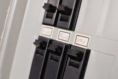 Interruptores elétricos da caixa do disjuntor Imagens de Stock Royalty Free