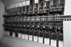 Interruptores eléctricos. Fotos de archivo libres de regalías