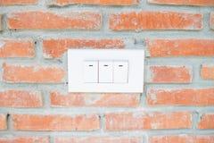 Interruptores en la pared Imagen de archivo libre de regalías