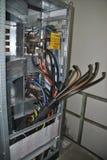 Interruptores no armário elétrico foto de stock