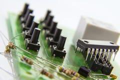 Interruptores no cartão-matriz com o fechamento do código 10 local Fotos de Stock