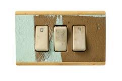 Interruptores sucios Imágenes de archivo libres de regalías