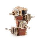 Interruptores velhos Fotografia de Stock Royalty Free