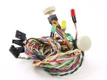 Interruptores y luces eléctricos Imágenes de archivo libres de regalías
