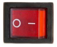 Interruttore acceso/spento di potenza rossa. Fotografie Stock Libere da Diritti
