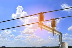 Interruttore ad alta tensione del trasformatore con insulat elettrico Fotografia Stock Libera da Diritti