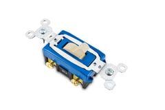 Interruttore chiaro elettrico, percorso isolato di w/clipping fotografia stock