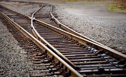Interruttore del binario ferroviario Immagini Stock