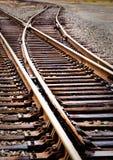 Interruttore del binario ferroviario Fotografie Stock