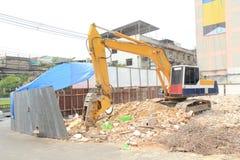 Interruttore dell'escavatore a cucchiaia rovescia Fotografia Stock Libera da Diritti