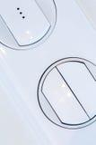 Interruttore della luce bianco di plastica del regolatore della luminosità immagine stock libera da diritti