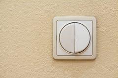 Interruttore della luce dell'avorio di due leve Fotografie Stock