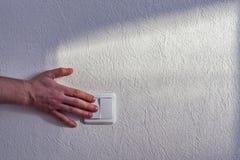 Interruttore della luce di tornitura Fotografia Stock Libera da Diritti